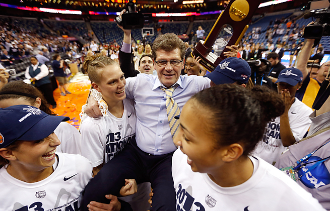 After winning its eighth women's hoops title, UConn celebrated on its campus Wednesday afternoon.