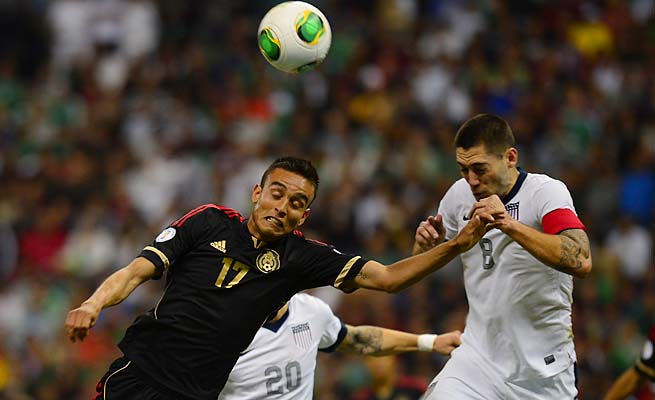 Clint Dempsey and the U.S. moved up after drawing Mexico 0-0 in World Cup qualifying.