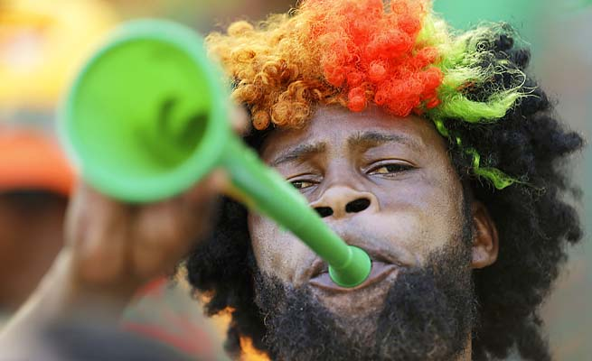 Vuvuzelas became infamous during the 2010 World Cup for their noisy nature.