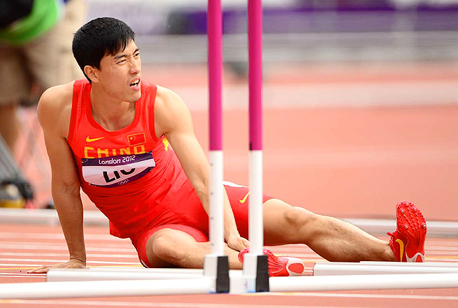 China's Liu Xiang is still recovering from his heartbreaking injury at the London Olympics.