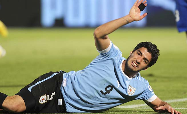 Luis Suarez and Uruguay are currently out of World Cup qualifying position.