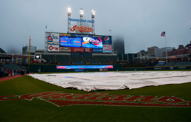 Rain postponed Yankees vs. Indians for the second-straight day Thursday.