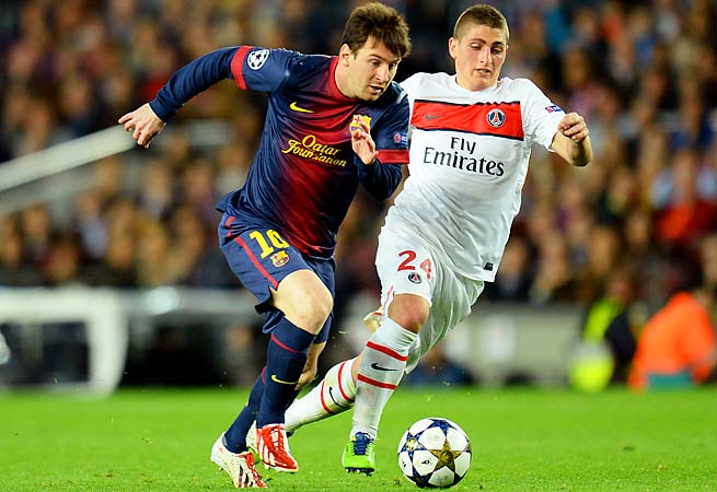 Lionel Messi helped Barcelona past PSG in the Champions League quarterfinals.