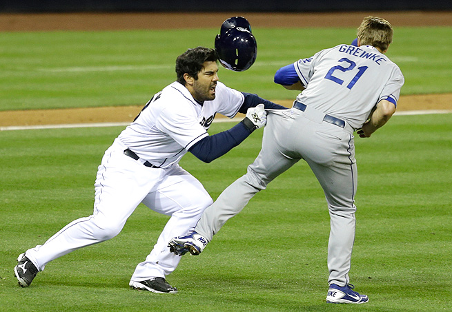 Zack Greinke broke his left collarbone in a brawl with Carlos Quentin in April.