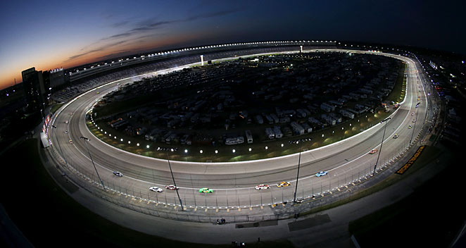 Texas Motor Speedway is hosting a race sponsored by the National Rifle Association on Saturday night.