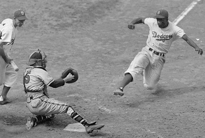 Jackie Robinson's superb all-around play made him the game's most valuable player over a five-year period form 1949-53.