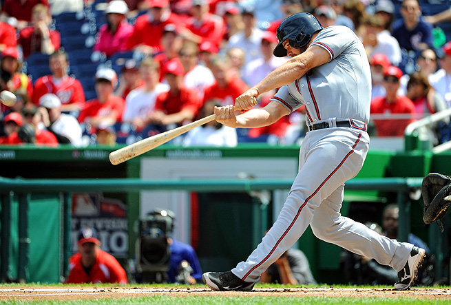 Evan Gattis has smacked four home runs and picked up 8 RBI, along with drawing four walks so far.