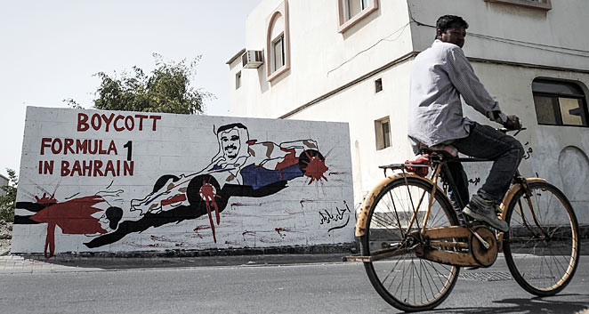 Protesters hope that if the race is held, it will shed light on the unrest in Bahrain.
