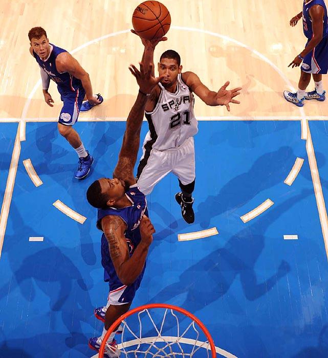 The ageless future Hall of Famer produced yet another All-NBA-type season in leading San Antonio to the third-best record in the league. But the Spurs enter the playoffs at less than 100 percent, and they will have plenty of work to do just to earn a potential rematch with Oklahoma City in the conference finals. Duncan will get an immediate test down low from the Lakers' Dwight Howard and Pau Gasol in the first round.