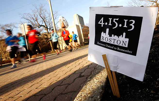 Runners from all over took part in memorial runs after the bombings at the Boston Marathon.
