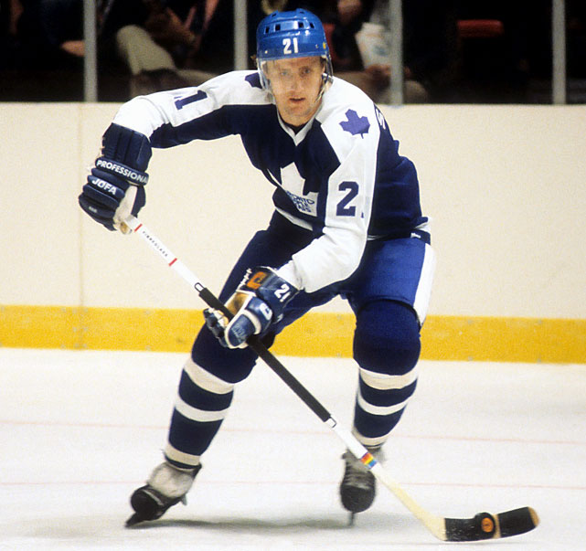 The longtime Maple Leaf came over to the NHL during the Broad Street Bully days when ruffians around the league ate Swedish hockey players for lunch or used them as firewood. Salming took some brutal hackings and beatings in his career, but he also won respect for playing through them and becoming a fine support player for the likes of Darryl Sittler and Lanny McDonald in Toronto. Salming earned five second-team All-Star selections and was a first-team pick in 1977. He finished his career with 787 points and a+175 rating in 1,148 games. -- <italics>Brian Cazeneuve</italics>