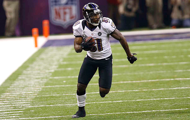 Anquan Boldin had 65 catches for 921 receiving yards last season with the Ravens.