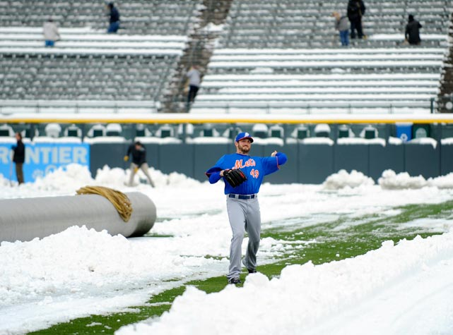 No place like Denver for ideal baseball weather in April.