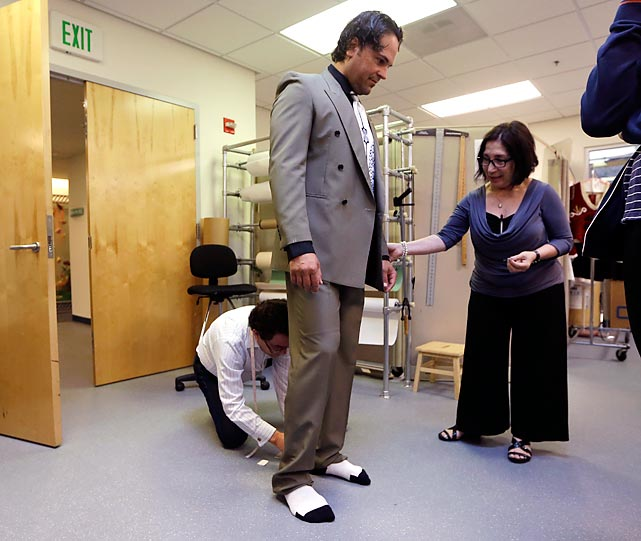 The former All-Star backstop has taken up ballet, and here he is being fitted for his tutu before his appearance in <italics>Slaughter on Tenth Avenue</italics> at the Miami City Ballet in Miami Beach, Fla. Piazza plays a gangster in an obvious warm up for his next role in <italics>The Nutcracker</italics>.
