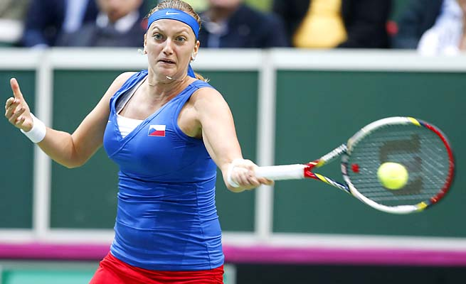 Petra Kvtiova and the Czech Republic are the reigning Fed Cup champions.