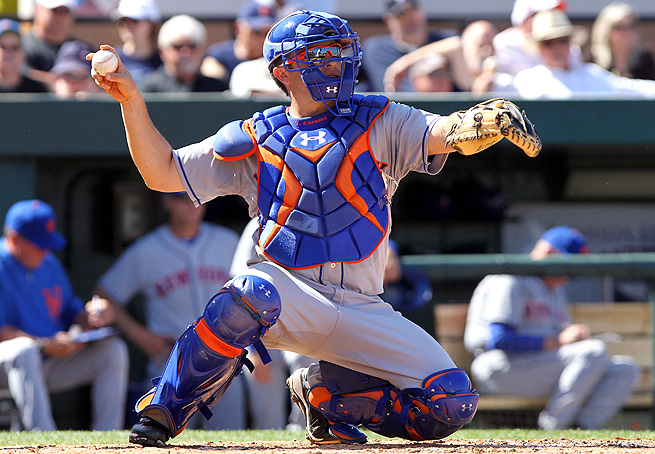 Mets' prospect Travis d'Arnaud's path to the majors was derailed by a broken metatarsal in his left foot.
