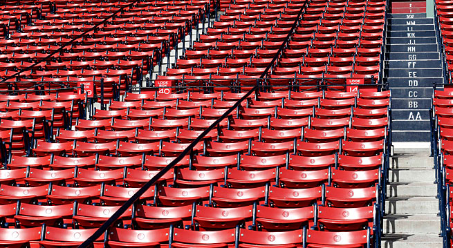 Seats at Fenway Park will remain empty tonight after the cancellation of Friday's game between the Red Sox and Royals.
