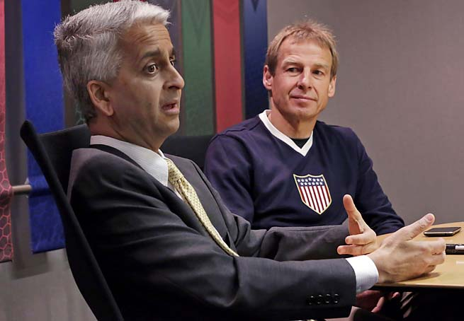 Sunil Gulati (left) has been president of U.S. Soccer since 2006.