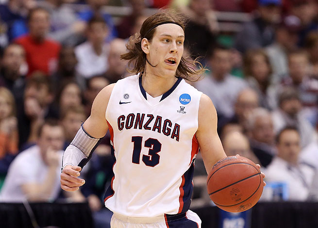 Kelly Olynyk was an All-America selection while averaging 17.8 points and 7.3 rebounds for the Zags.