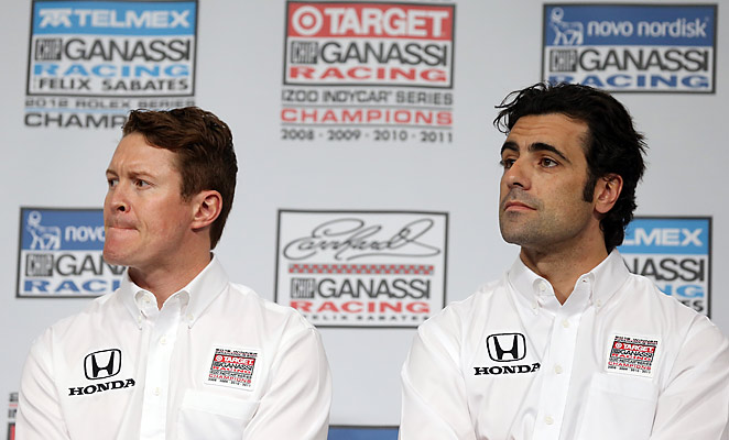 Scott Dixon, left, is often eclipsed by teammate Dario Franchitti, right, in fame and stature in IndyCar.