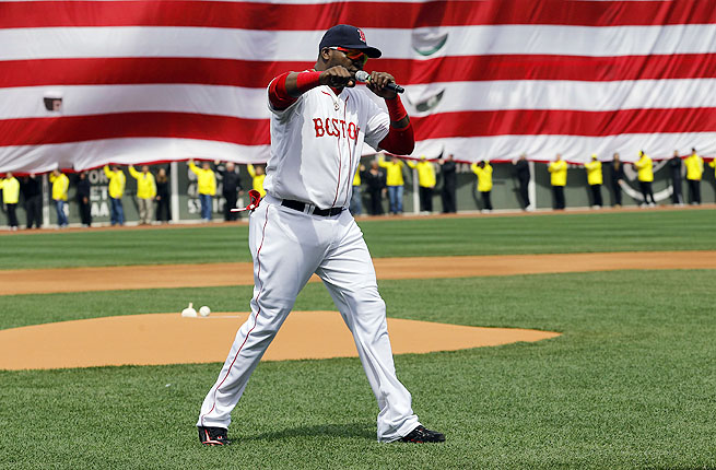 David Ortiz incited a raucous Boston crowd with some inspiring -- if incendiary -- words on Saturday.