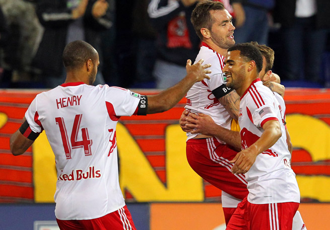 The Red Bulls scored four times on one of MLS' stingiest defenses to beat New England.