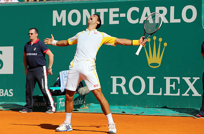 Novak Djokovic beat eight-time defending champion Rafael Nadal 6-2, 7-6 (1) to win in Monte Carlo.