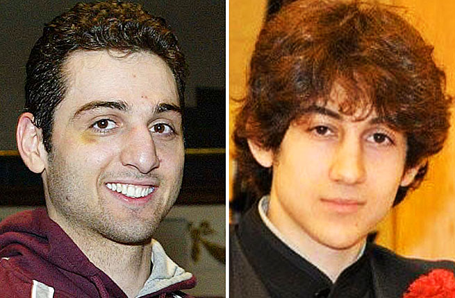 Dzhokhar Tsarnaev (right) and his brother Tamerlan didn't arouse the suspicions of peers or neighbors.