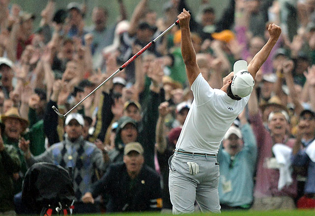 Full of late drama and tournament firsts, the 2013 Masters was one of the finest in the tournament's history, and it didn't even need a resurgent Tiger Woods. Adam Scott eventually prevailed over 2009 champion Angel Cabrera after both birdied the 18th hole to force a playoff, and Cabrera left a key putt just a lip short on the second playoff hole. Both players appeared to maintain a positive attitude about the experience, complimenting one another's shots and sharing a warm embrace at the tournament's conclusion.