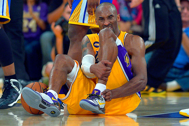 One of the most trying years of Kobe Bryant's storied career had arguably the worst ending imaginable. Just four games before the playoffs were to begin, the Lakers' superstar injured his achilles tendon trying to drive to the basket, ending his season and putting his immediate career in doubt. The Lakers still made the playoffs without Bryant, but it is the worst injury Bryant has suffered in his career.