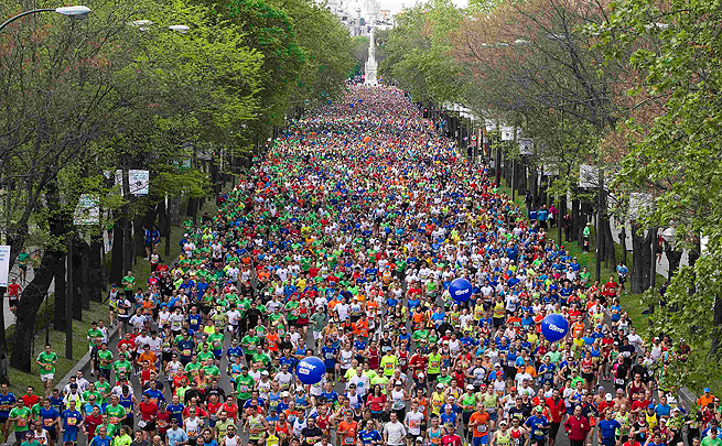 Runners at the upcoming Madrid Marathon will be protected by 1,100 police and security personnel.