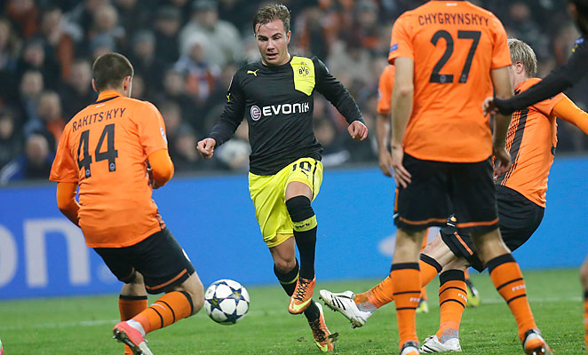 Mario Götze has scored a career-high 10 goals in the 2012-2013 season, his fourth with Dortmund.
