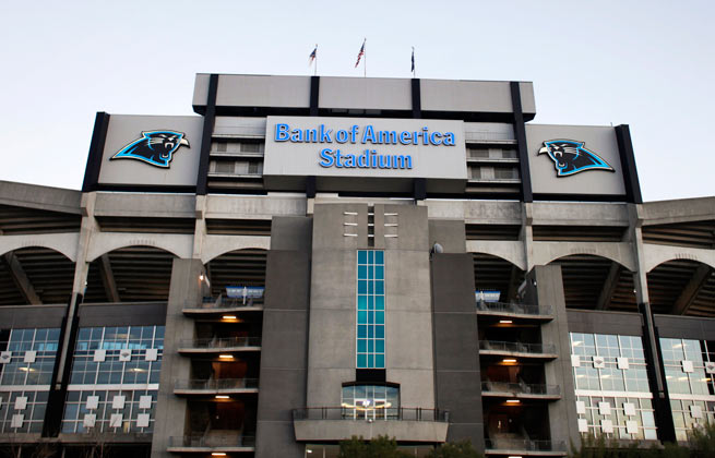 An initial plan called for an improvement package of $250 million to Bank of America Stadium.