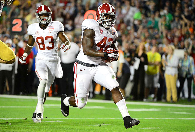 If Alabama's Eddie Lacy is drafted early, he may become the most sought after rookie in fantasy.