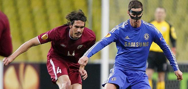 Fernando Torres scored one goal in the second leg of Chelsea's quarterfinal win over Rubin Kazan.