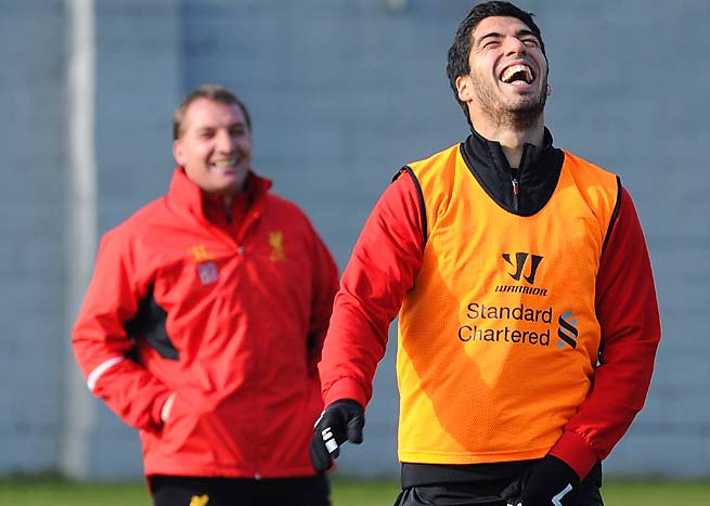 Luis Suarez, Brendan Rodgers and Liverpool are seventh in the Premier League.