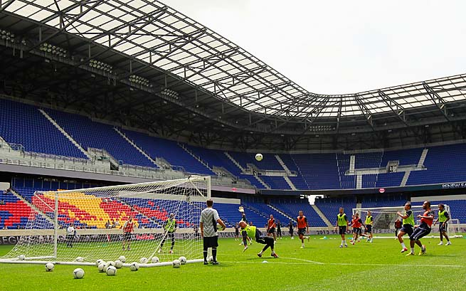 The New York Red Bulls play in Red Bull Arena in Harrison, N.J.