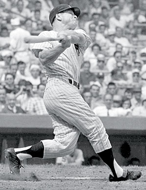 Mickey Mantle led the AL in runs, home runs, OPS and total bases while helping the Yankees to the pennant in 1960.