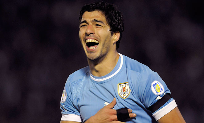 Luis Suarez has appeared in 59 games for the Uruguay National Team, scoring 27 goals.