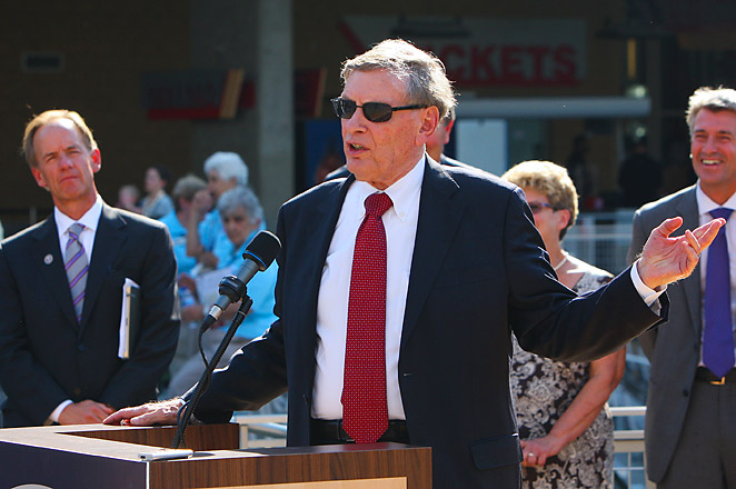 Baseball was dropped from the Olympics, but Bud Selig doesn't plan on halting the MLB season to increase its chances of being re-included.