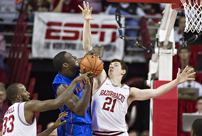Hunter Mickelson started 20 games for Arkansas last year, but he will redshirt next season.