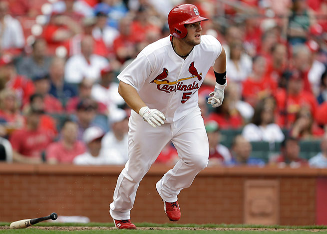 Matt Adams was hitting an astounding .542 in a part-time role for St. Louis.
