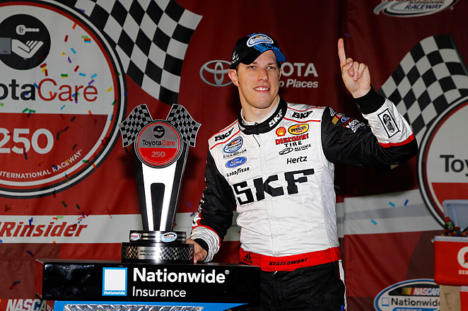 Brad Keselowski's win put an end to Kyle Busch's streak of three consecutive victories in the series.