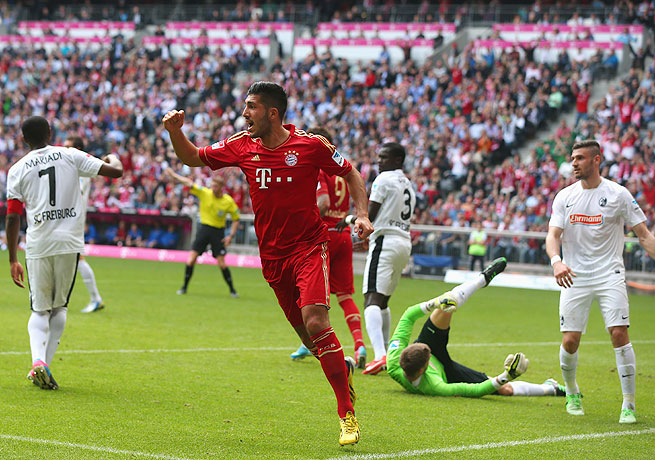 Emre Can scored the goal that put Bayern over the top against Freiburg for its 14th straight league win.