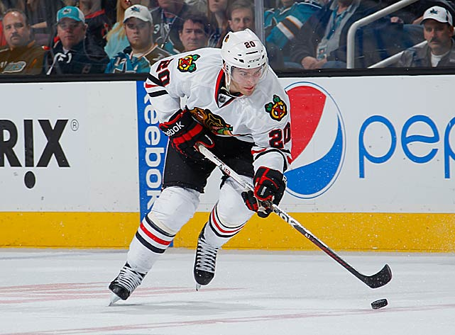 "If depth was a Chicago question mark, this hard-working 20-year-old winger nicknamed ""Man Child"" helped provide an answer. Playing a skilled, yet physical two-wsy game on a line with Jonathan Toews and Marian Hossa, Saad steadily blossomed into a scorer and Calder Trophy candidate, finishing fifth among all rookies with 27 points, and second with 26 takeaways. ''He improves every single game,'' Toews told the <italics>Chicago Sun-Times</italics>. ''I think that's what says the most. You can talk about his skill all day, how fearless he is in the puck areas .?.?. but he's one of those guys that's determined to make a difference every night.''"