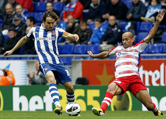 Mikel Rico (right) and Granada dumped Verdu and Espanyol for their first victory in nine league games.