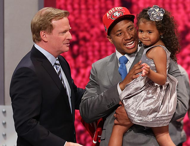 When Eric Reid carried his daughter LeiLani into the spotlight at the 2013 NFL draft it conjured up memories of one of our favorite galleries -- children at the press conference.