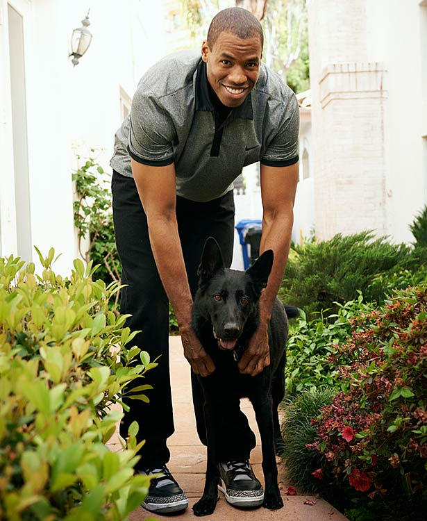 """""""I'm glad I can stop hiding and refocus on my 13th NBA season,"""" Jason Collins said. """"I've been running through the Santa Monica Mountains in a 30-pound vest with Shadow, the German shepherd I got from Mike Miller."""""""