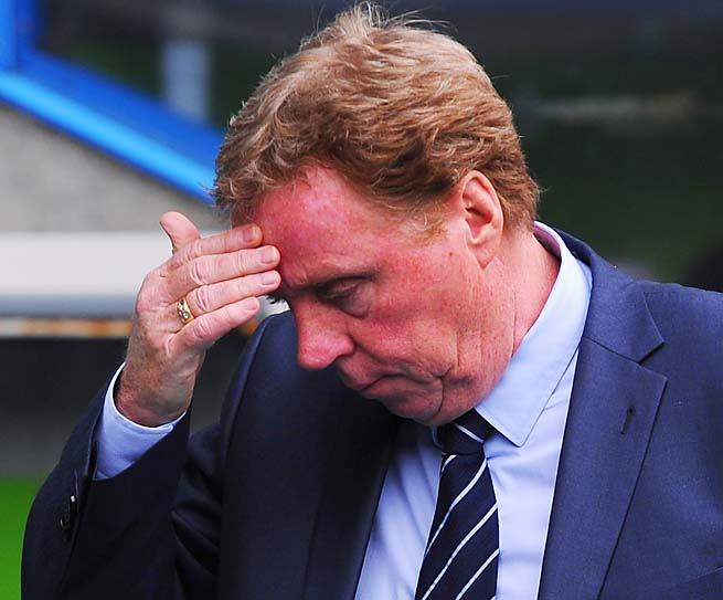 Harry Redknapp and QPR are in 19th place in the Premier League with 25 points in 35 matches.