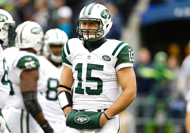 Tim Tebow, who spent most of his time with the Jets on the sideline, only completed six passes for 39 yards in 2012.